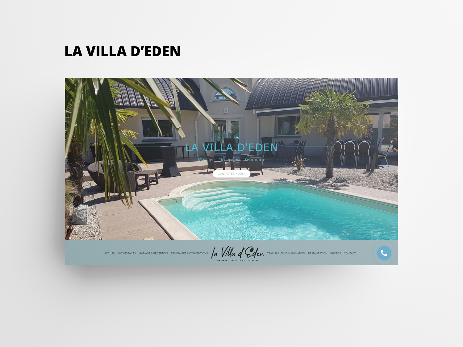 Website launch La Villa d'Eden !