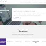 Redesign of the main MGS Informatique website